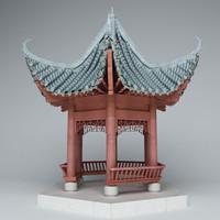 3dsmax chinese pavilion