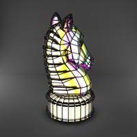 3d chess horse decorative