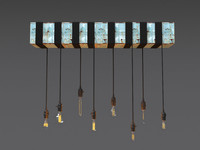 industrial column hanging lamp