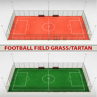 3d model football soccer stadium field