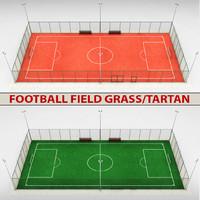 3d model football soccer stadium field