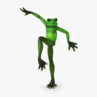 3d model frog 2 statuette