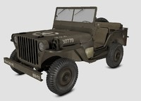willys army jeep 3d obj