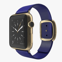 3d model of apple watch 38mm gold