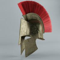 3d max spartan helmet sparta