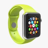 3d apple watch 38mm fluoroelastomer model