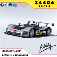 3d model of audi r8r 1999