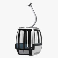 cableway car 3d max