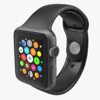 apple watch 38mm fluoroelastomer 3d model