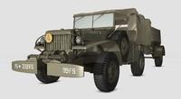 dodge truck wc 2 3d model