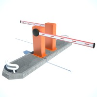 3d road barrier