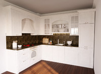 classic kitchen scene 3d model