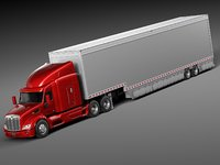 Peterbilt 579 Semi Truck Trailer 2012