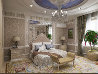 luxurious bedroom classic obj