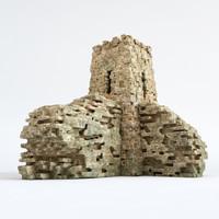 3d model stone cliff