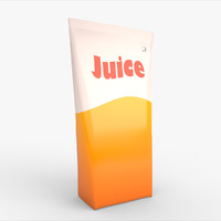 juice carton 3d max