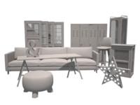 3d model doors sofa