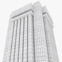 3d brutalist building model