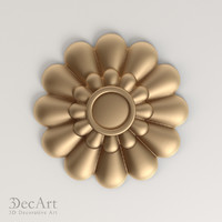 decorative rosette cnc 3d model