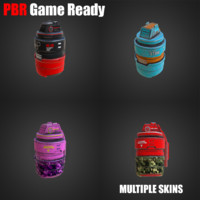 3d model stun grenade pbr