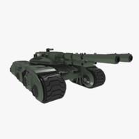 dxf futuristic sci-fi battle tank