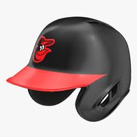 baseball helmet rawlings baltimore c4d