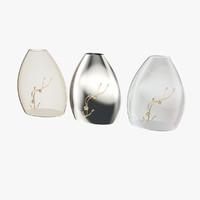 3 modern vases