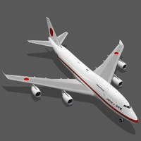 boeing 747-47c japanese air force 3d model