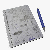 notebook pen 3d model
