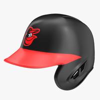 3d baseball helmet rawlings baltimore model