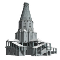 medieval church ascension 3d model
