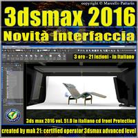 051 3ds max 2016 Novita Interfaccia V51 Italiano Cd Front