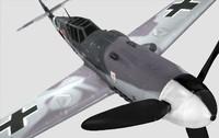 3d bf-109 german fighter model