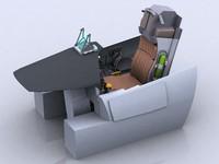 3d model of f-15c cockpit