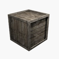 3d crate wood wooden model
