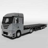 3d model flat bed flatbed