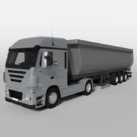 3d dump truck v2 model