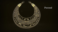 3d model scythian pectoral animation