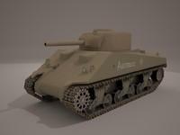 free sherman 3d model