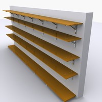 grocery wall rack 3d 3ds