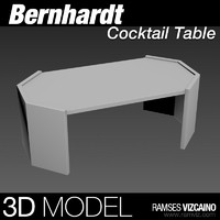 3d coffee table bernhardt
