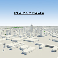 indianapolis indiana cityscape 3d model