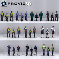 3D People: 30 Still 3D Working People Vol. 01