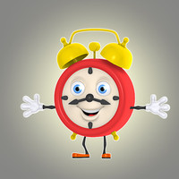 3ds max cartoon alarm clock