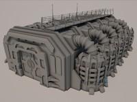 3d sci-fi building 1501