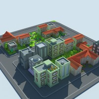 3ds max tiled city