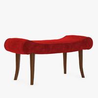 3d calla bench model