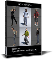 Rigged Humans for Cinema4D
