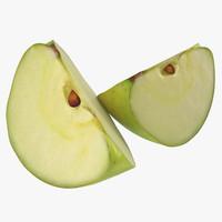 max green apple slice