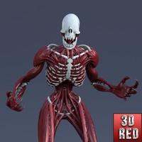 humanoid creature 3d obj